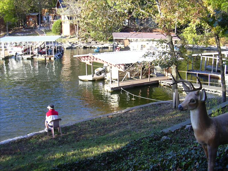 the boat dock of the Cabin