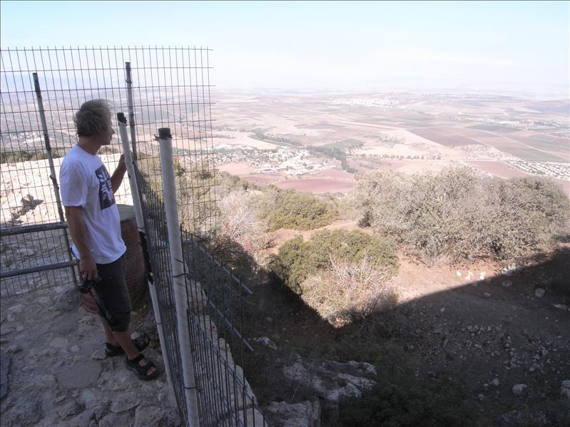 view of jezreel valley, form mt tabor