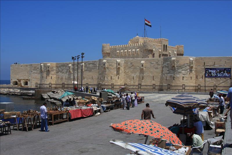Fort Qaitbey; hier stond de vuurtoren