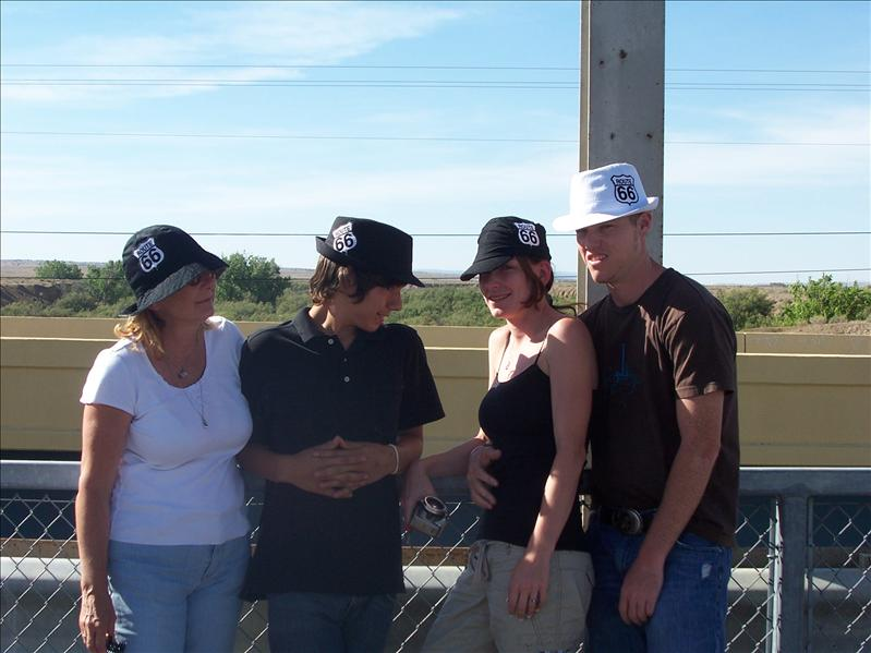 We love our hats!!  Mom, Jake, Risa, Clint