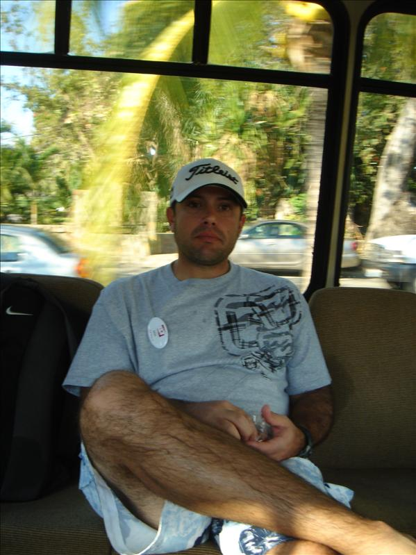 Don on the shuttle