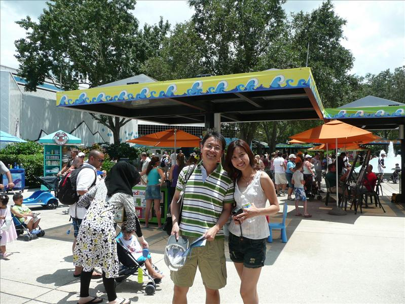 Sea World - After two rides (roller coaster)