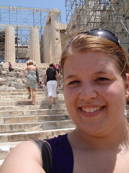 me in front of the propylaea