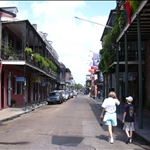 typical French Quarter street
