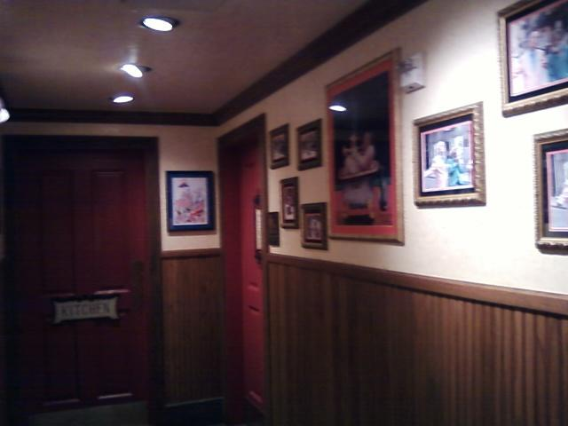 a view of the restroom entrance