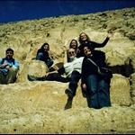 sitting on the pyramids