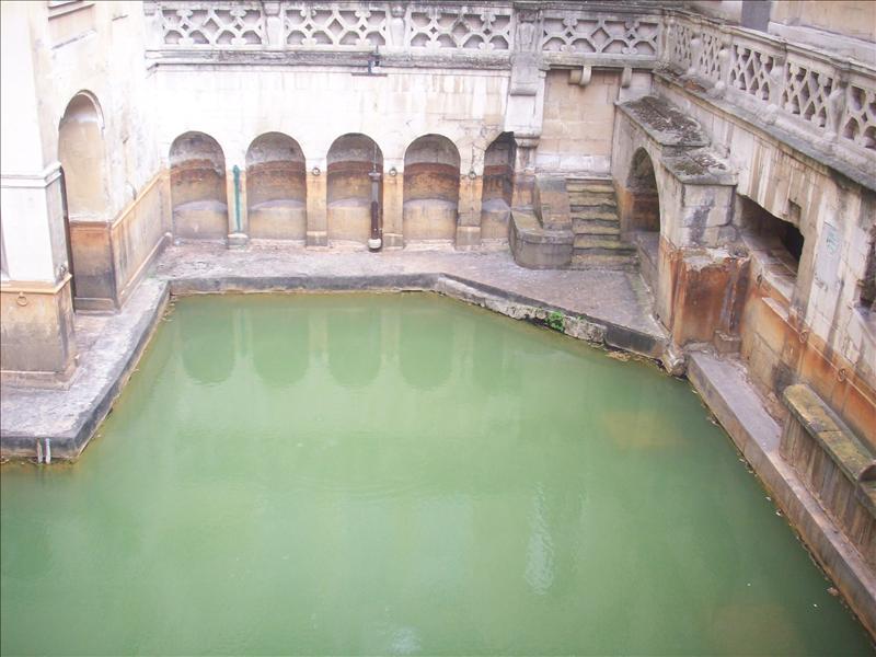 Bath!Naturally warm water.