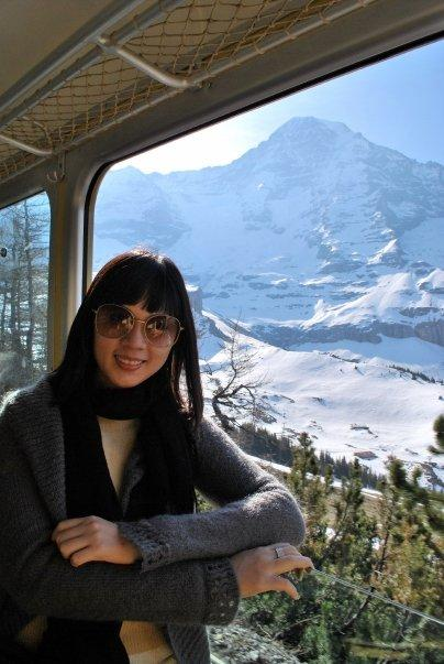 Taking the train up Jungfrau Mountain, Switzerland