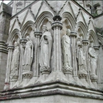 Close up detail of Salisbury Cathedral