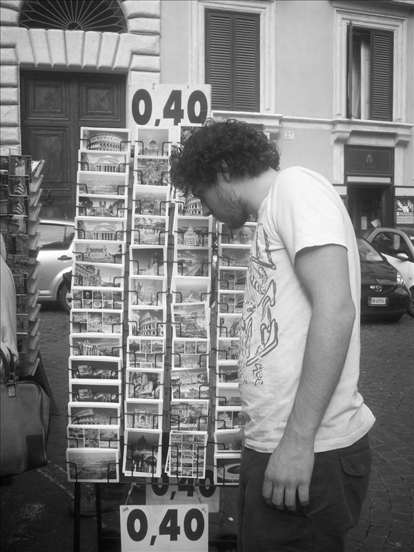 Jono checking out the cheap rack.