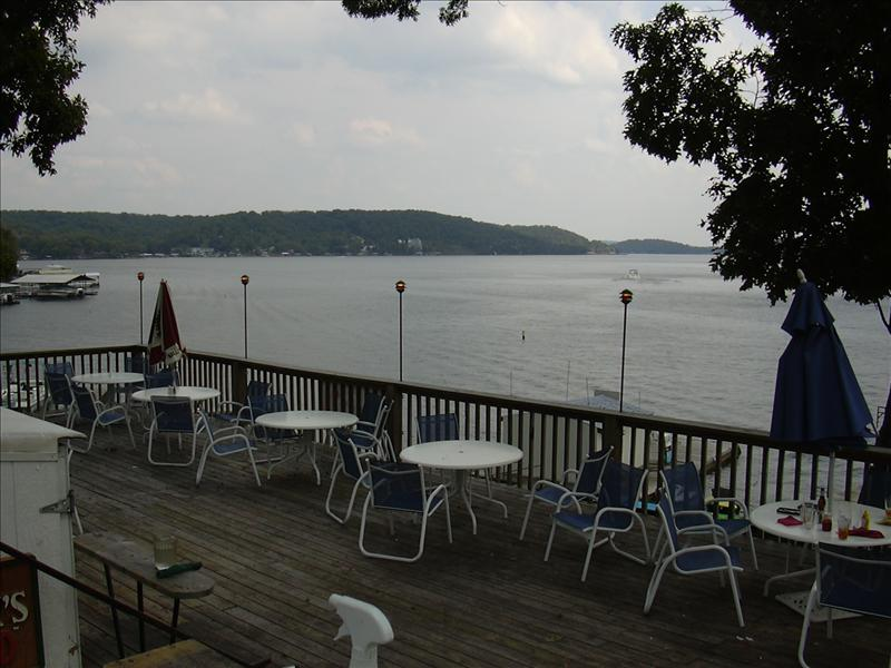 a lakeside resturant near Jean's cabin at Lake Ozark Missouri, USA