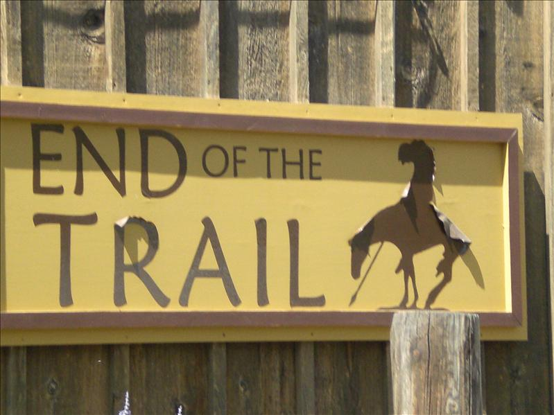 End of the trail in Medora