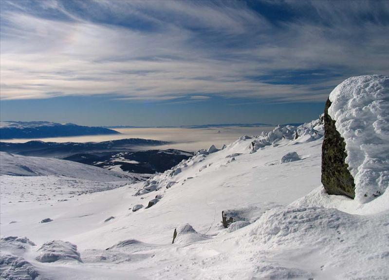 "Viewed from Cherni Vrah (""Black Peak""), Vitosha"