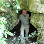 Geocache in a cave.