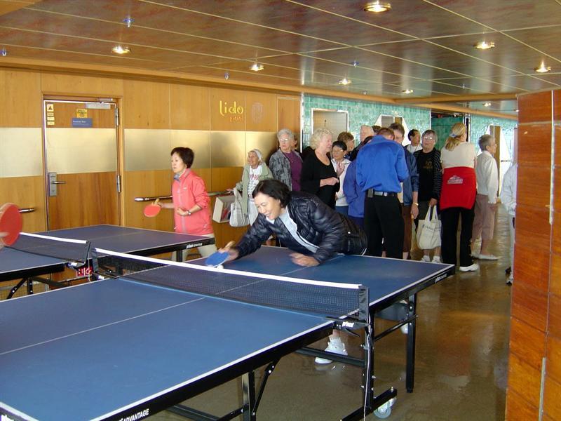 Ping-pong game.