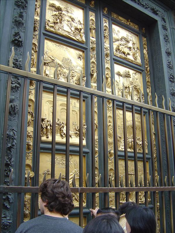 Bronze doors of the Baptistery