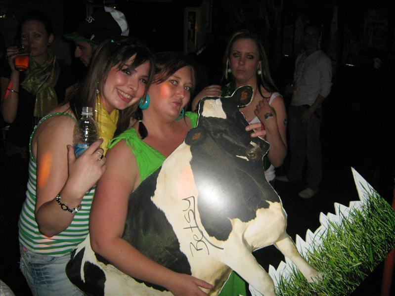 Me, Maria, Amy and Betsy the Cow