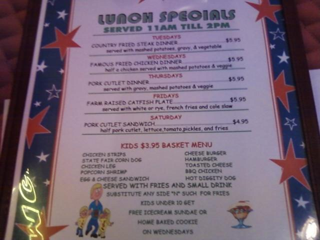lunch specials 11 am to 2 pm