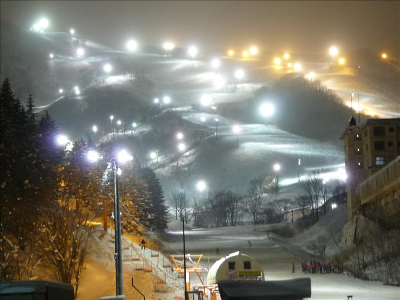 Niseko at night, so beautiful