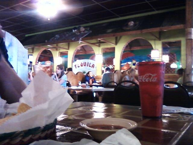 inside view from our table