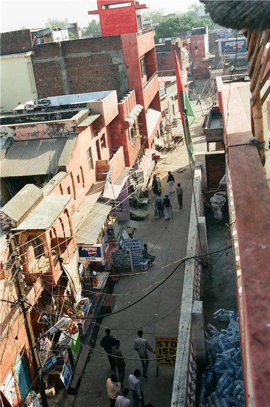view from rooftop restaurant. Agra. near Taj Mahal