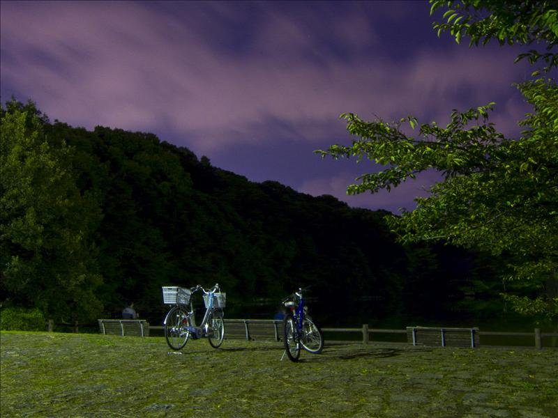 Bikes on a date in the night!