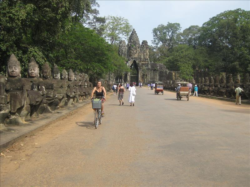 Bicycling through the Angkor Wats