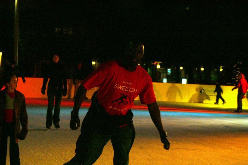 Ice skating in SF.