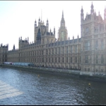 The Parliament Houses along the Thames.