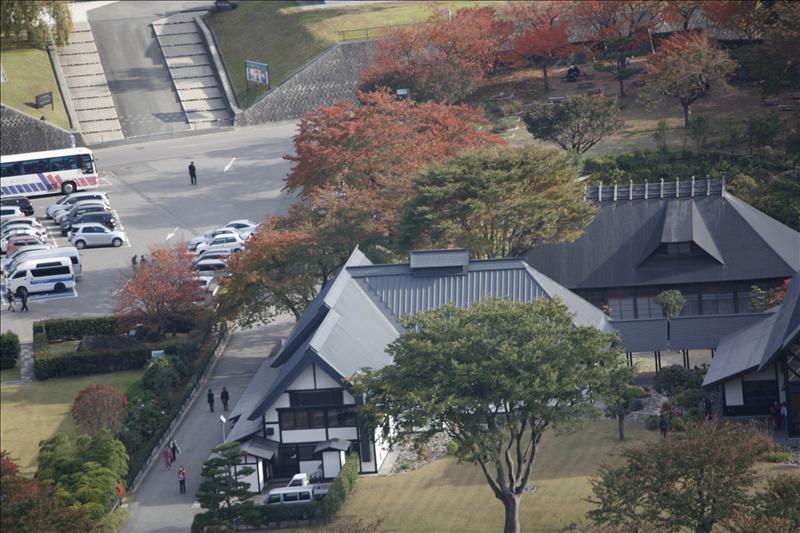 由五大堂俯覽山下的後藤美術館