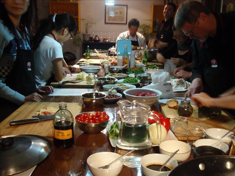 The 'Germans' begin cooking