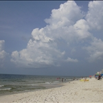 on the beach at Gulf Shores, Alabama