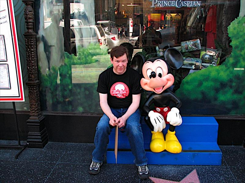 Me and Mickey in Hollywood