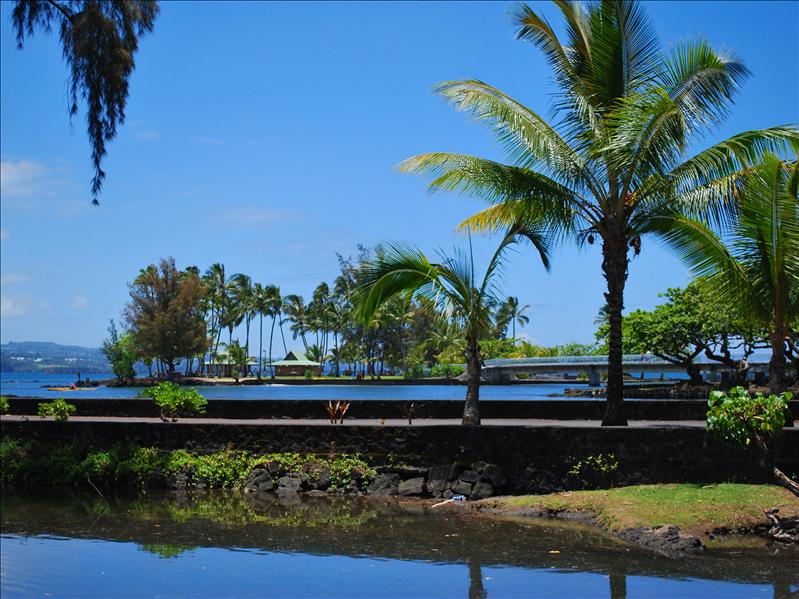 Hilo - Coconut Island from Japanese Gardens
