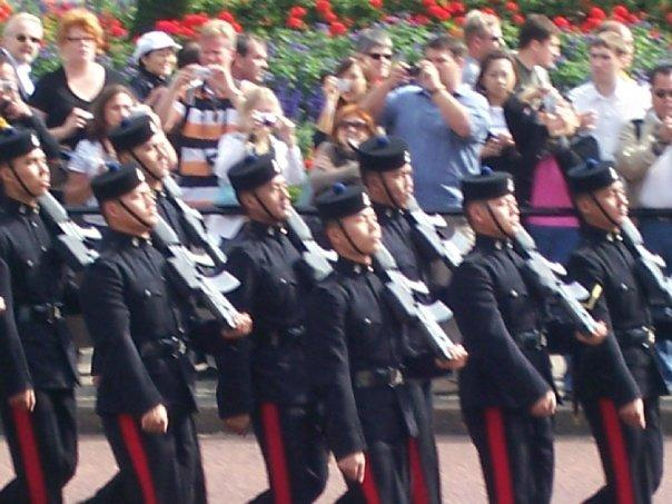 These appeared to be Asian soldiers also in the parade.