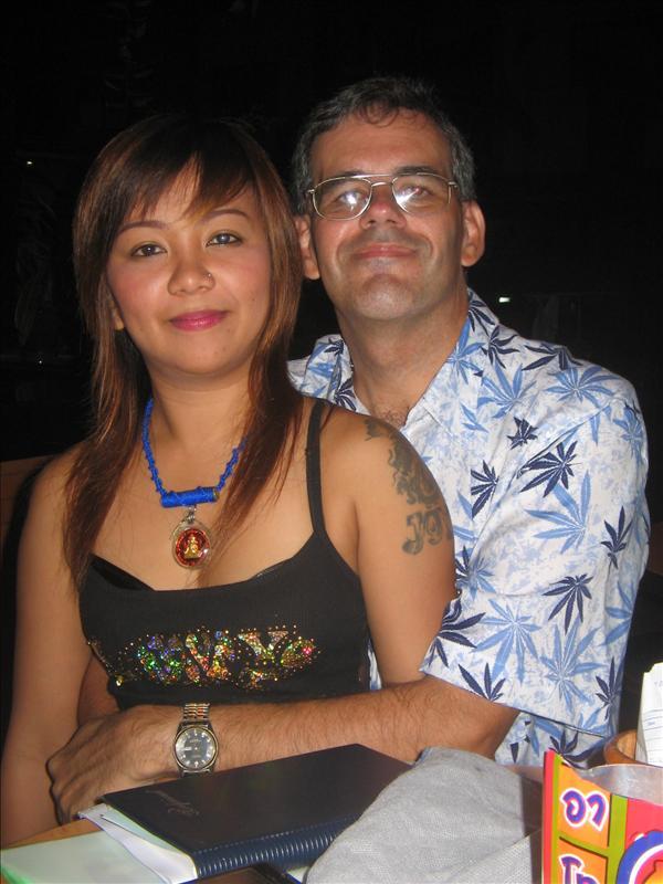 Joy & Mark, on the eve of our flight from Phuket to Bangkok.