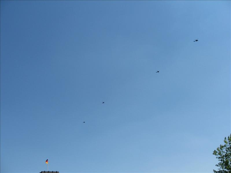 Helicopters all in a row