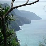 Kauai - Hiking tour, view along the coast