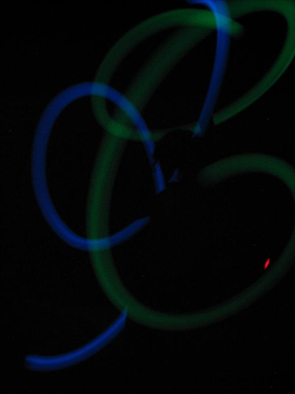 Spinning poi in the room