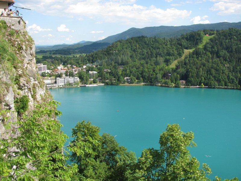 ... of the romantic blue Lake Bled ....