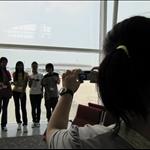未出發前在機場留影 @香港機場