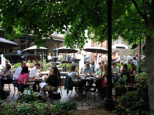 outdoor dining on the new patio will make you happy