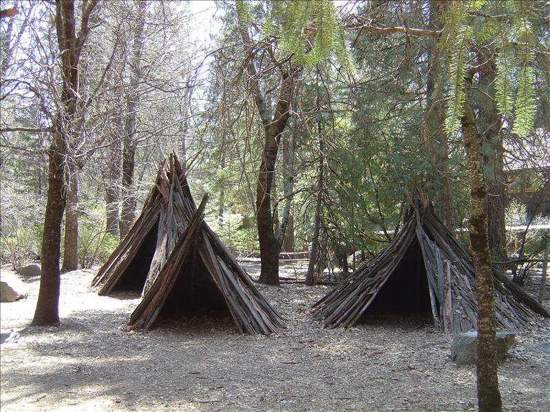 Indian village of Ahwahnee