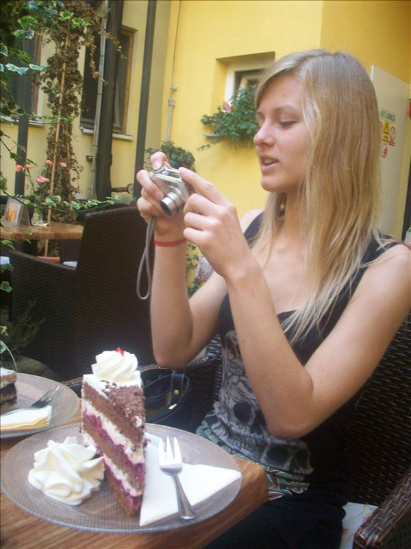 Jess also capturing her food.