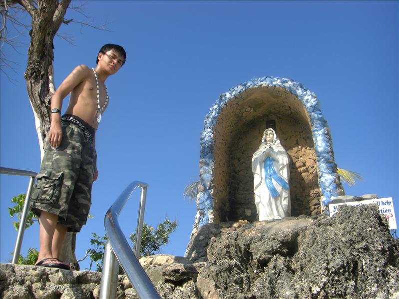 Ernest in the grotto