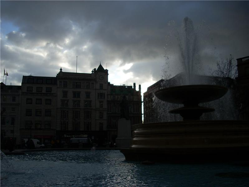 Stormy fountain