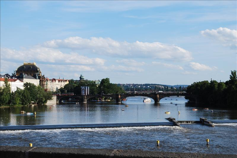Charles Bridge, over Vltava River