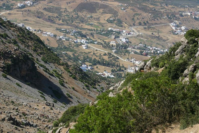 looking back at Chefchaouen