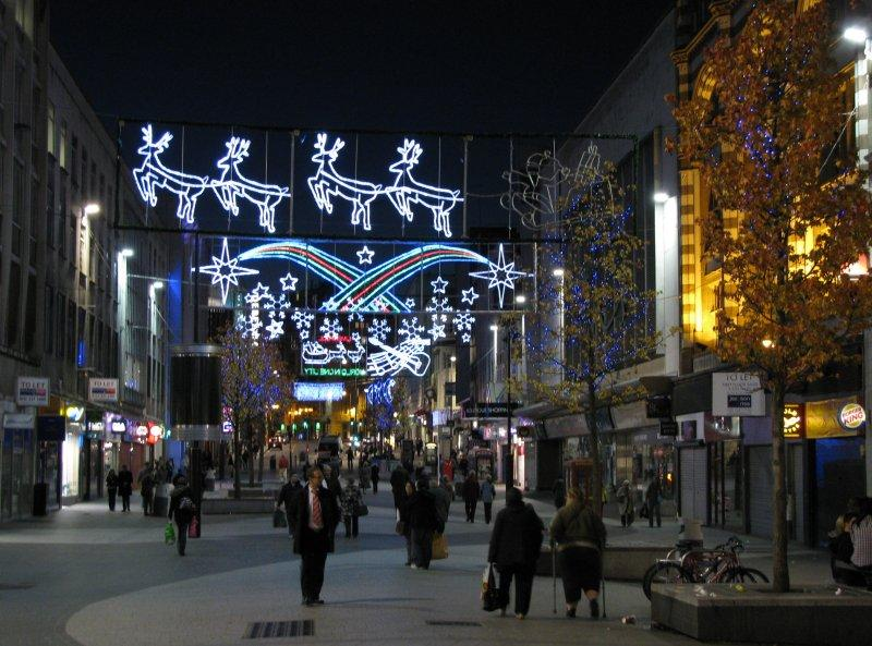 Christmas lights in Church Street.