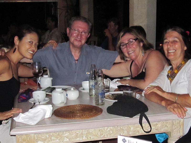 With Lawrence Bloom, Marcia Jaffe, and Vereena, brainstorming about the Global Conference taking place in Dec. 2010 at Indus restaurant.